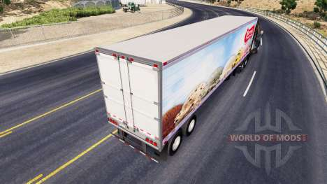 Skin Perrys Ice Cream on the semitrailer-the ref for American Truck Simulator