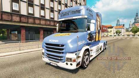 Skin Lisa Convoy for truck Scania T for Euro Truck Simulator 2