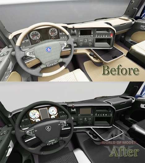 The Dark Line Exclusive interior for Scania for Euro Truck Simulator 2
