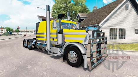 Скин Silvery-yellow metallic на Peterbilt 389 for American Truck Simulator