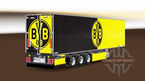 Semi-Trailer Chereau Borussia Dortmund for Euro Truck Simulator 2