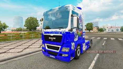 Skin FC Schalke 04 on tractor MAN for Euro Truck Simulator 2