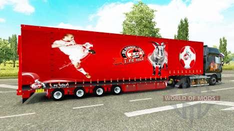 Krone curtain semi-trailer 1. FC Koln for Euro Truck Simulator 2