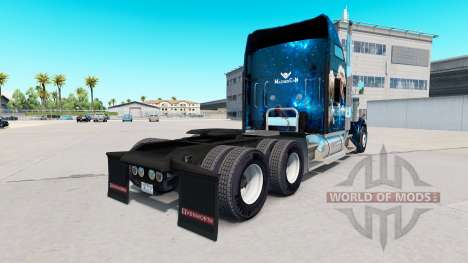 Skin Jurassic World truck Kenworth W900 for American Truck Simulator
