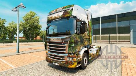Skin Central Park for truck Scania for Euro Truck Simulator 2