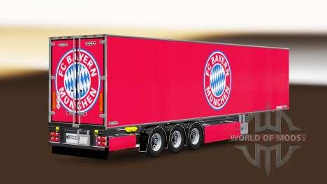 Semi-trailer Chereau FC Bayern Munchen for Euro Truck Simulator 2