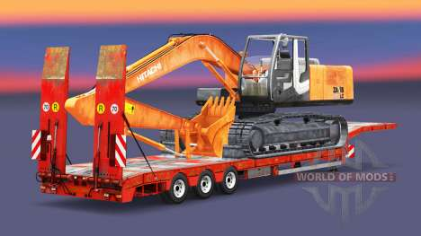 Low sweep with the load of the excavator for Euro Truck Simulator 2
