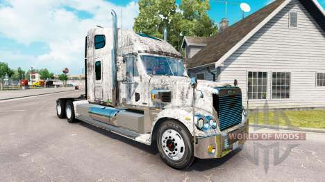 Skin Grunge Metal on the truck Freightliner Coro for American Truck Simulator
