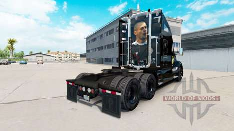 Skin black Port Vale on a Kenworth tractor for American Truck Simulator