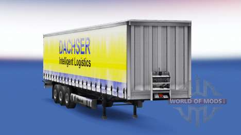 Dachser skin v1.1 on the trailer for Euro Truck Simulator 2