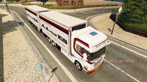 Skin A. A. van ES for tractor Scania Tandem for Euro Truck Simulator 2