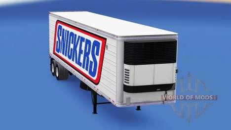 Skin Snickers on the semitrailer-the refrigerato for American Truck Simulator