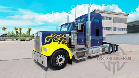 Skin on Hard Truck tractor Kenworth W900 for American Truck Simulator