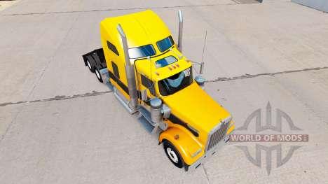 Skin Gold Black on the truck Kenworth W900 for American Truck Simulator