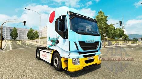 Skin Mitsubishi A6M2 Zero in the tractor Iveco for Euro Truck Simulator 2