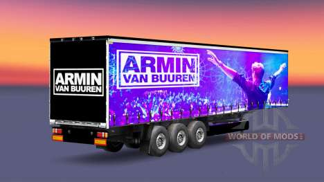Skin Armin van Buuren on the trailer for Euro Truck Simulator 2