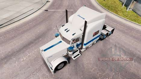 Skin Con-way Freight for the truck Peterbilt 389 for American Truck Simulator