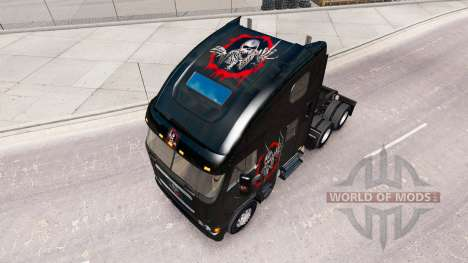 Skin Reworked the Skull on the truck Freightline for American Truck Simulator