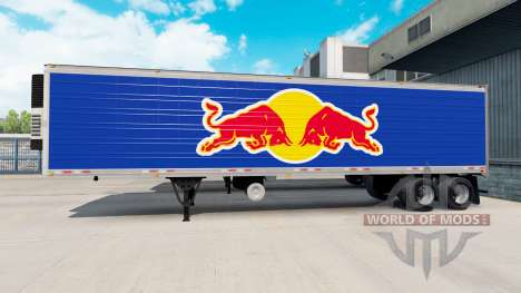 Skin Red Bull on the semitrailer-the refrigerato for American Truck Simulator