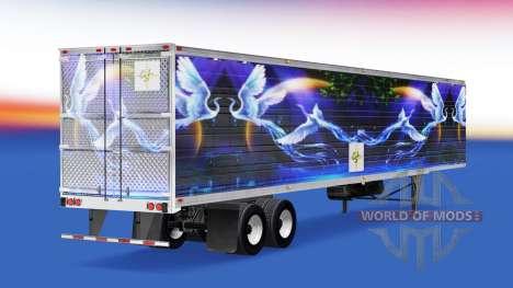 Skin CS Logistics 02 on the semitrailer-the refr for American Truck Simulator