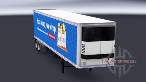 Skin Tesco on the semitrailer-the refrigerator for American Truck Simulator