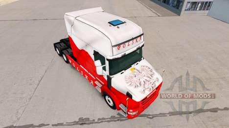 Skin Airbrash Polska for truck Scania T for American Truck Simulator