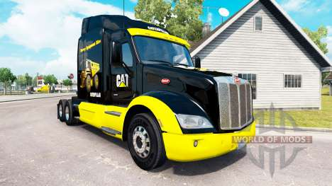 CAT skin for the truck Peterbilt for American Truck Simulator