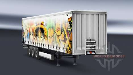 Skin One Piece on the trailer for Euro Truck Simulator 2
