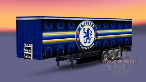 Skin Chelsea FC v1.3 on the trailer for Euro Truck Simulator 2