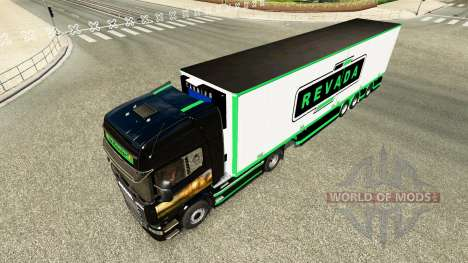 Skin Revada & de Keuster on tractor Scania for Euro Truck Simulator 2
