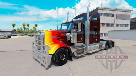 HotRod skin for the Kenworth W900 tractor for American Truck Simulator
