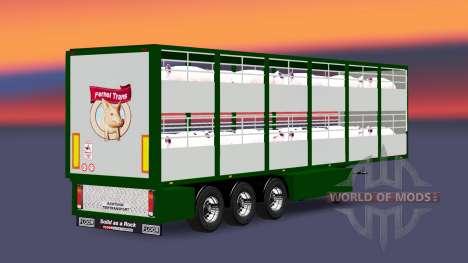 Semitrailer-cattle carrier Ferkel Trans v2.0 for Euro Truck Simulator 2