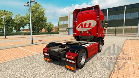 The America Latina Logistica skin for Scania tru for Euro Truck Simulator 2