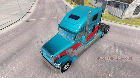The skin on the truck Freightliner Coronado for American Truck Simulator