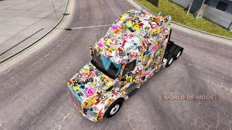 Sticker Bomb skin for the truck Peterbilt for American Truck Simulator