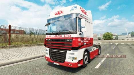 Skin G. J. Jack Ltd. DAF for Euro Truck Simulator 2