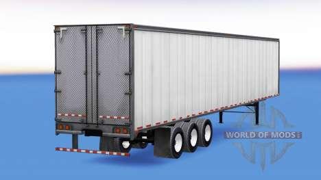 All-metal three-axle semi-trailer for American Truck Simulator