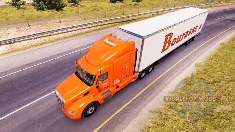 Bourassa skin for the truck Peterbilt for American Truck Simulator