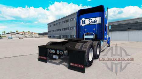 Скин Duke University Pride на Kenworth W900 for American Truck Simulator
