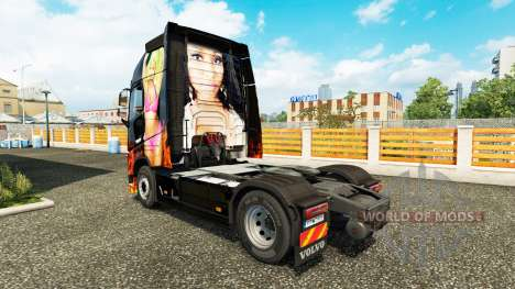 Nicki Minaj skin for Volvo truck for Euro Truck Simulator 2