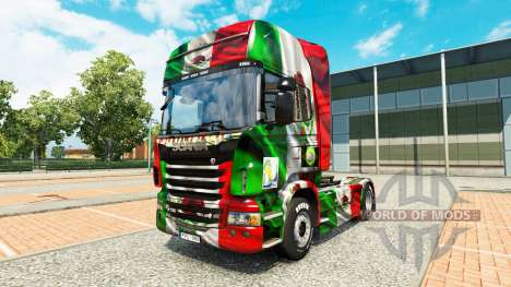 The Mexico Copa 2014 skin for Scania truck for Euro Truck Simulator 2