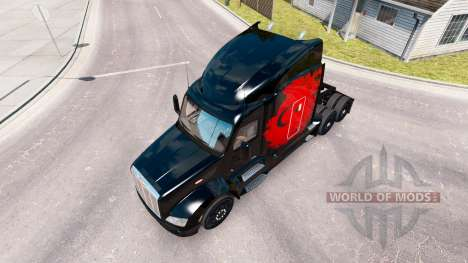 Skin Turkish Power on the tractor Peterbilt for American Truck Simulator