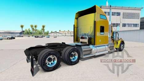 Skin Carbon Custom on the truck Kenworth W900 for American Truck Simulator