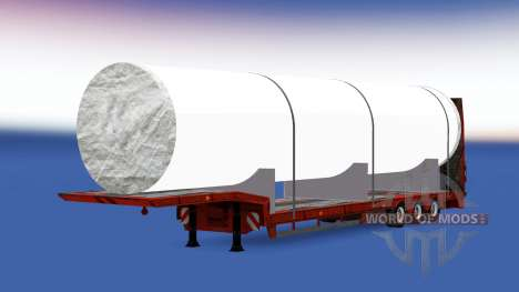 Low sweep with a big white pipe for American Truck Simulator
