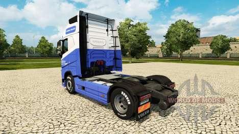 The H. Veldhuizen BV skin for Volvo truck for Euro Truck Simulator 2