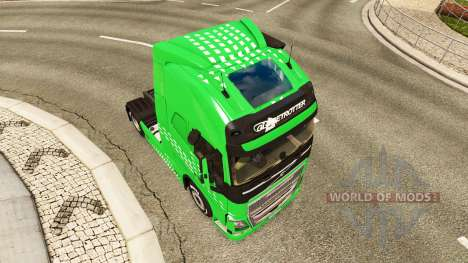 Green Arrow skin for Volvo truck for Euro Truck Simulator 2