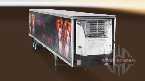 Skin United Colours for semi-refrigerated for American Truck Simulator