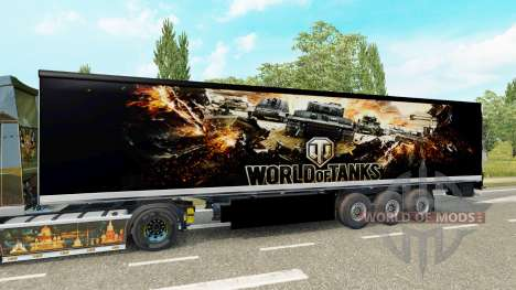 Skin World of Tanks on the trailer for Euro Truck Simulator 2