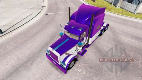 Skin Mauve and White for the truck Peterbilt 389 for American Truck Simulator