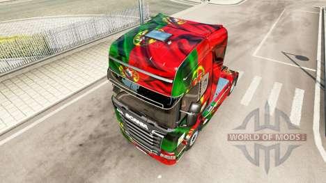Скин Portugal Copa 2014 на Scania Streamline for Euro Truck Simulator 2